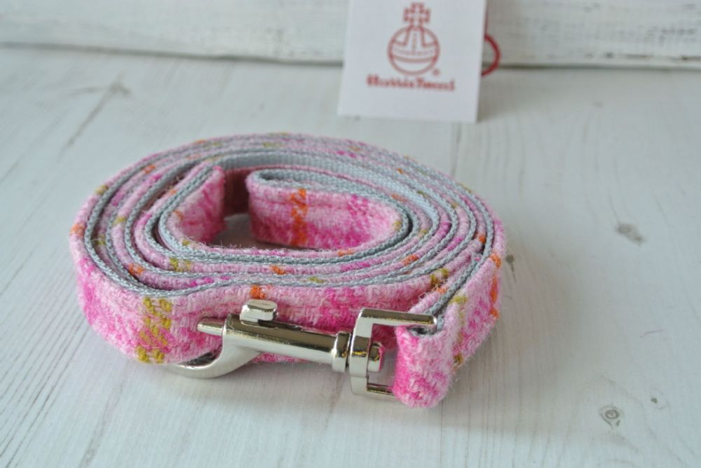 Pink Spring Check Harris Tweed Lead